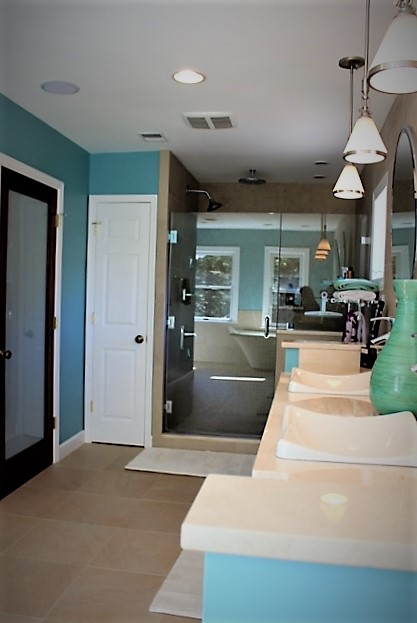 Master bath in manassas va bianco renovations for Alexandria va bathroom remodeling