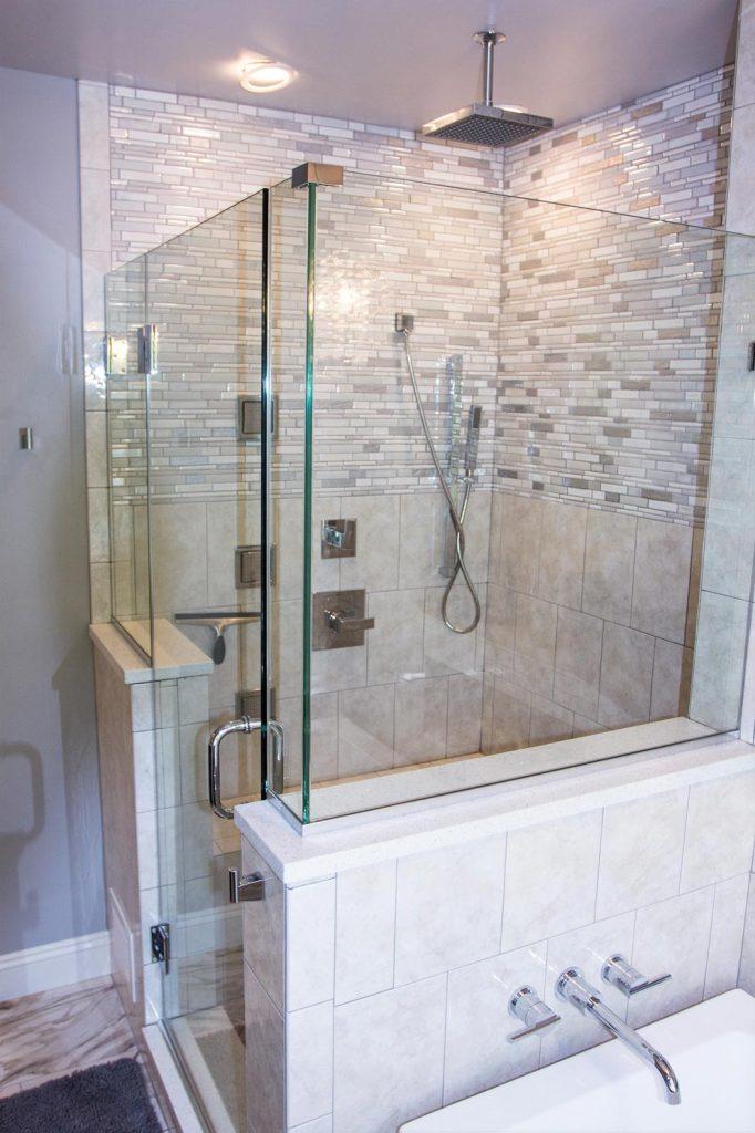 Finished Master Bathroom Shower Remodel Gainesville Va Bianco