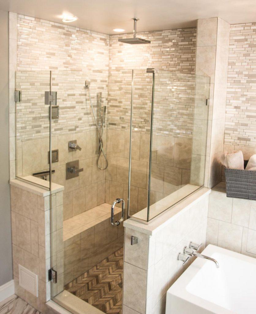 Master Bathroom Shower Remodel Gainesville Va Bianco Renovations